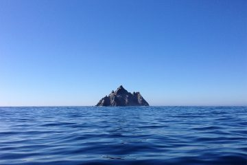Small Skellig in the distance
