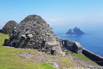 Skellig Michael Monastery Looking out over Little Skellig