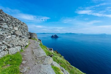 View of Small Skellig on the path approaching the monastery on Skellig Michael. Image by Frank Jorga (@frankjorga)